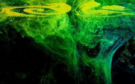 Fondos de pantalla Abstracto, verde, agua, humo