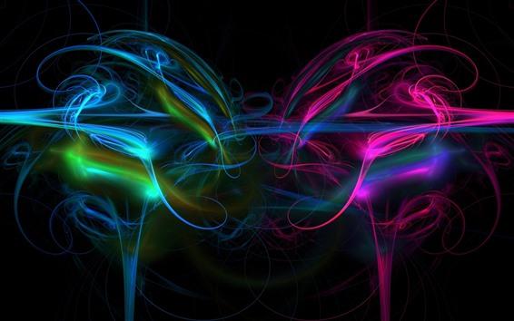 Fond d'écran Lignes lumineuses abstraites, colorées, fumée