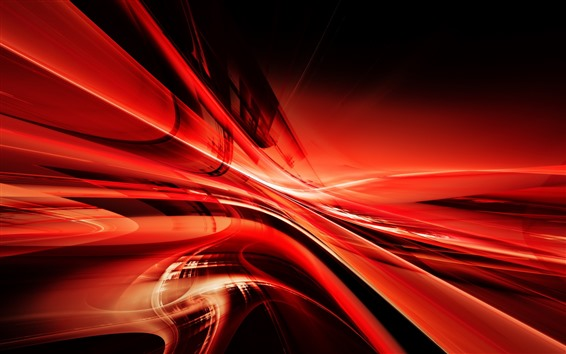Wallpaper Abstract red lines, curve