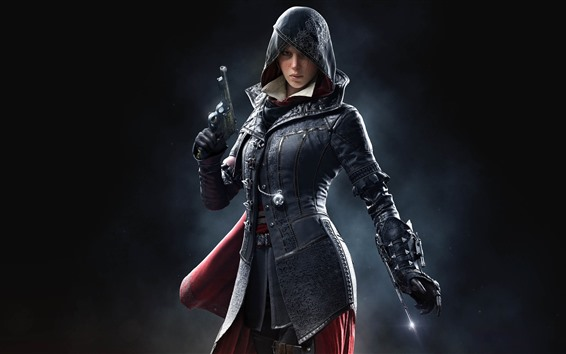 Wallpaper Assassin's Creed, girl, classic game