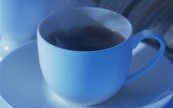 Papéis de Parede Xícara azul, café
