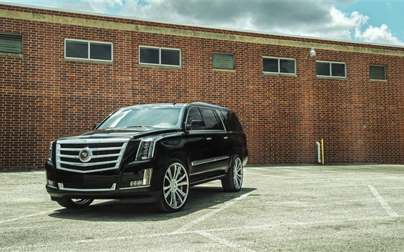 Wallpaper Cadillac black SUV car