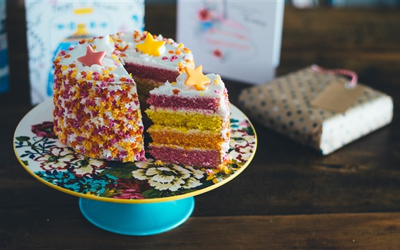 Wallpaper Cake, colorful layers, beautiful