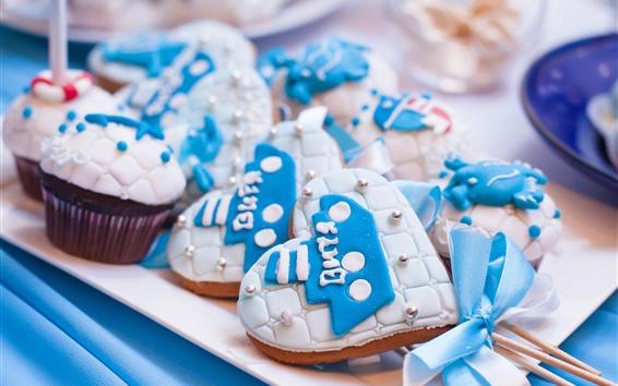 Fondos de pantalla Amor corazón galletas, pastel