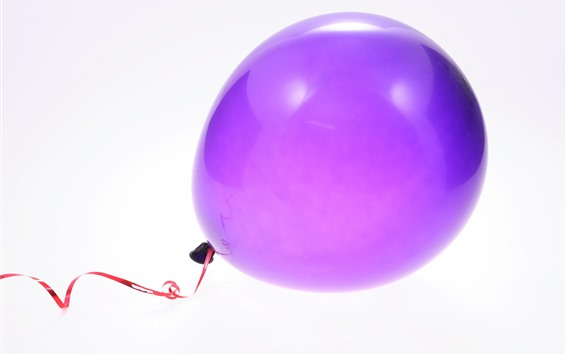 Wallpaper One purple balloon