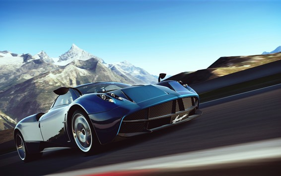 Fond d'écran Supercar Pagani, haute vitesse