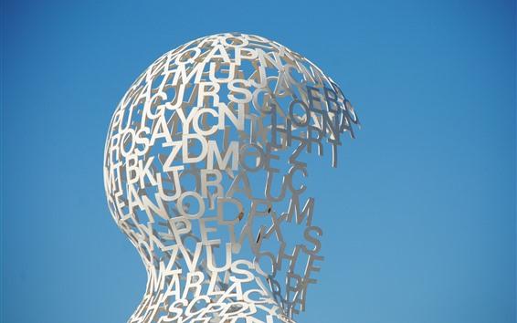 Fond d'écran Sculpture, lettres, création