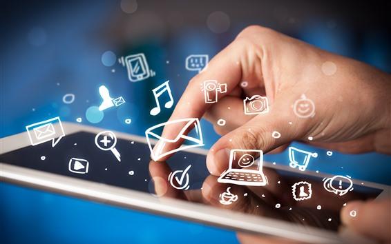 Fondos de pantalla Smartphone, icono, mano, creativo.