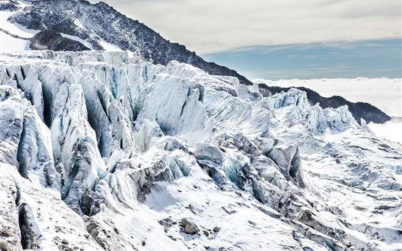 Fondos de pantalla Nieve, mundo blanco, montaña, invierno