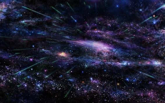 Fond d'écran Étoiles, espace, comète
