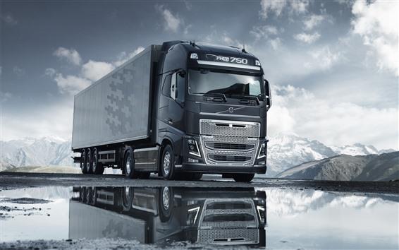 Wallpaper Volvo gray truck