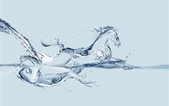 Fond d'écran Poisson d'eau et cheval, image créative