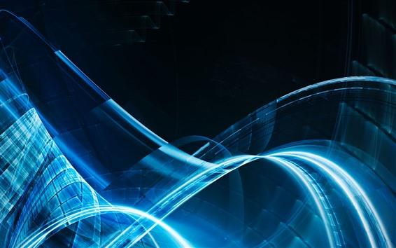 壁紙 抽象的な青い光チャンネル