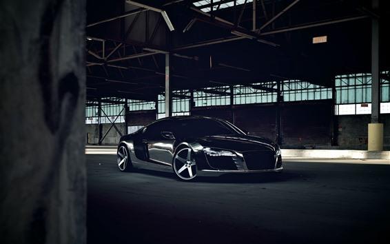Wallpaper Audi R8 black car