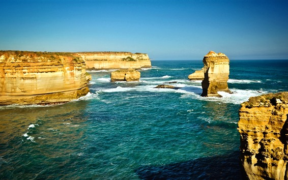 Wallpaper Australia, rocks, sea, nature scenery
