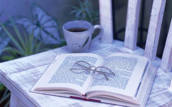 Papéis de Parede Livro, taça, copo, natureza morta