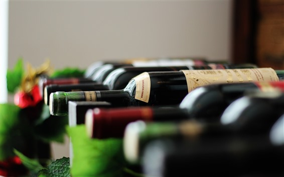Fond d'écran Bouteilles, vin, brumeux