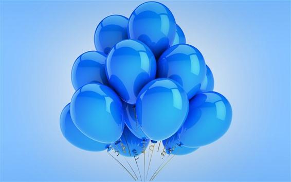 Fondos de pantalla Muchos globos azules