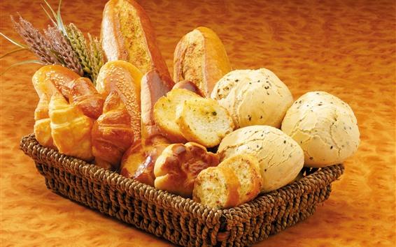 Papéis de Parede Uma cesta de pão, comida