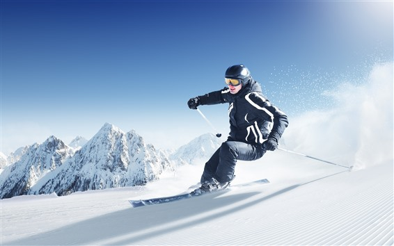 Wallpaper Ski, man, sport, snow