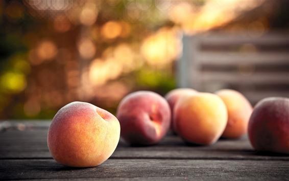 壁紙 いくつかの桃、かすんでいる