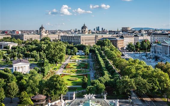 Fondos de pantalla Viena, Austria, ciudad, jardín, edificios, árboles