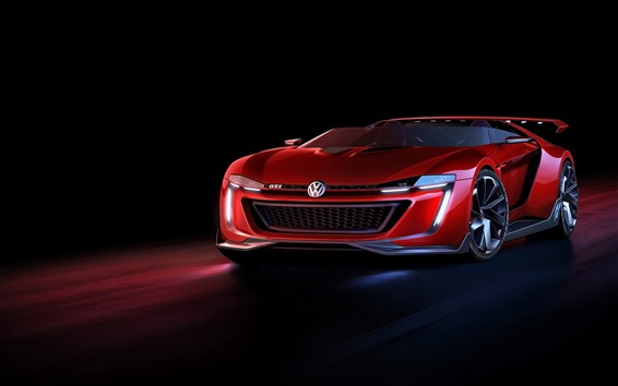 Wallpaper Volkswagen red supercar