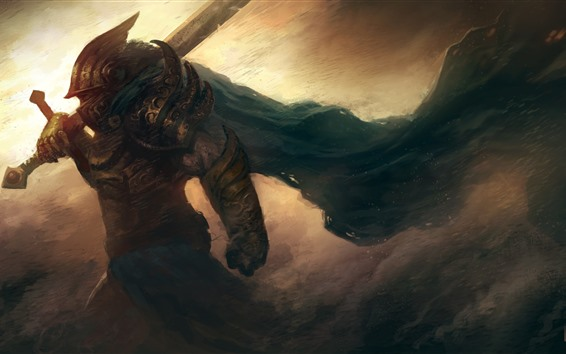Fondos de pantalla Guerrero, espada, imagen de arte