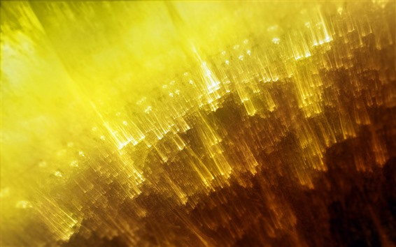 Wallpaper Yellow light lines, abstract design