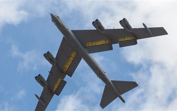 Fond d'écran Bombardier lourd B-52H, vol, ciel, nuages