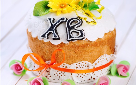 Wallpaper Cake, flowers, cream