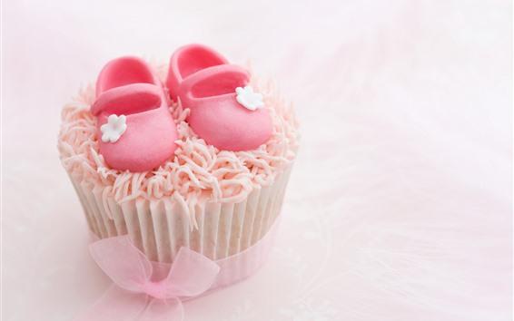 壁紙 ケーキ、砂糖靴