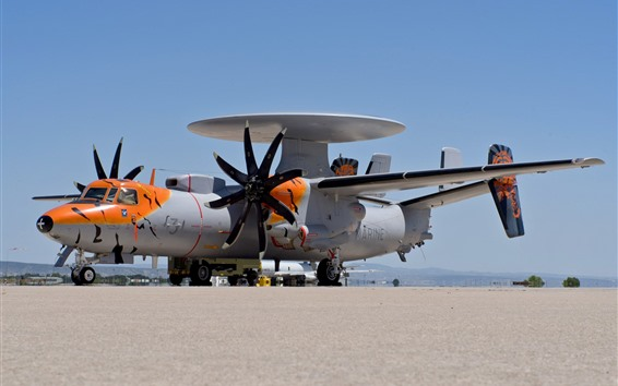 Wallpaper E-2C Hawkeye plane, detection, radar