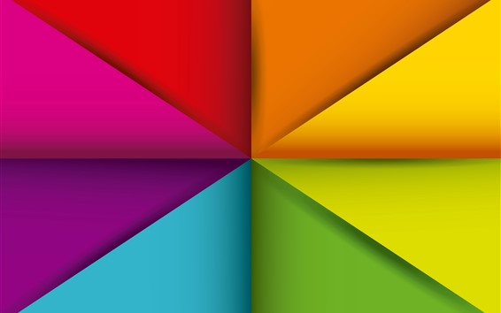Wallpaper Geometry shapes, abstract, colorful, triangle