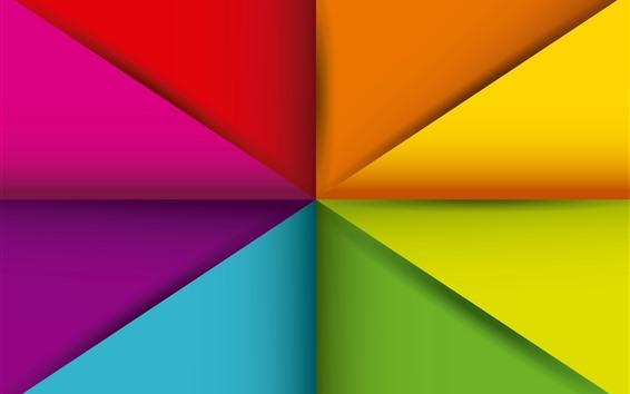 壁紙 幾何学図形、抽象的な、カラフルな、三角形
