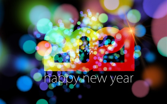 Wallpaper Happy New Year 2021, colorful, light circles, shine, creative