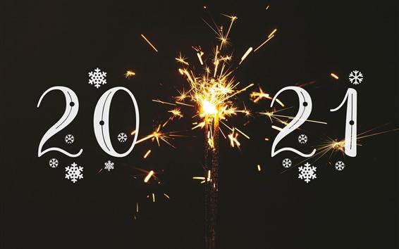 壁紙 明けましておめでとうございます2021、火花、輝き