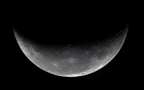 Wallpaper Moon, space, black background