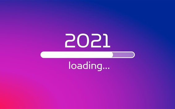 Wallpaper New Year 2021, loading, creative picture