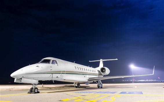 Papéis de Parede Avião, aeroporto, luzes, noite