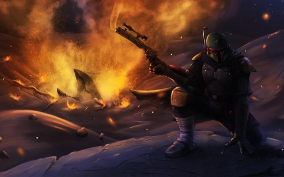 Wallpaper Star Wars, warrior, gun, art picture