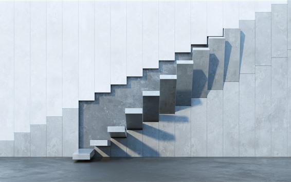 배경 화면 벽, 계단