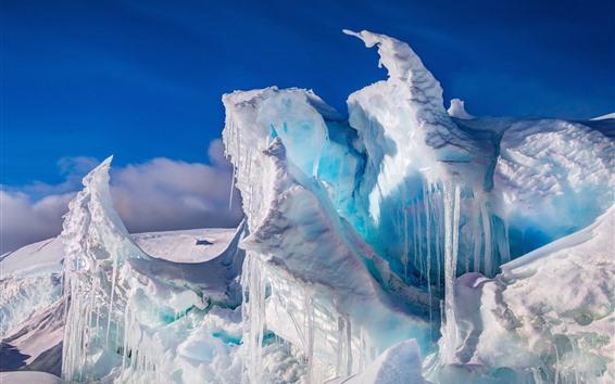 Papéis de Parede Antártica, gelo, gelo