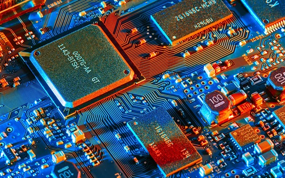 Wallpaper Electronic components, microprocessor, PCB board