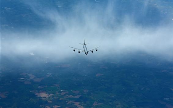 Papéis de Parede Voo do stratotanker KC-135R no céu, avião