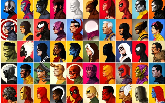 Wallpaper Marvel superhero, anime, face, side view