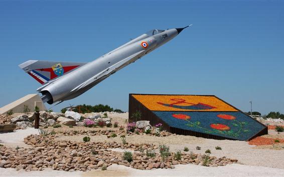 Fondos de pantalla Luchador Mirage 2000C, monumento