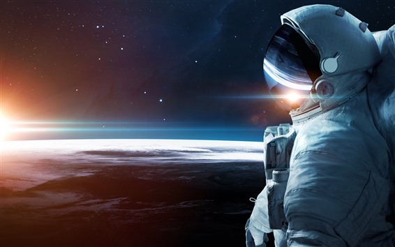 Wallpaper Astronaut, infinity, space, earth