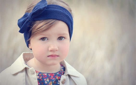 Wallpaper Cute little girl, child, portrait