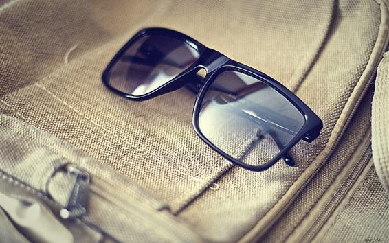 壁紙 メガネ、バッグ、光の反射
